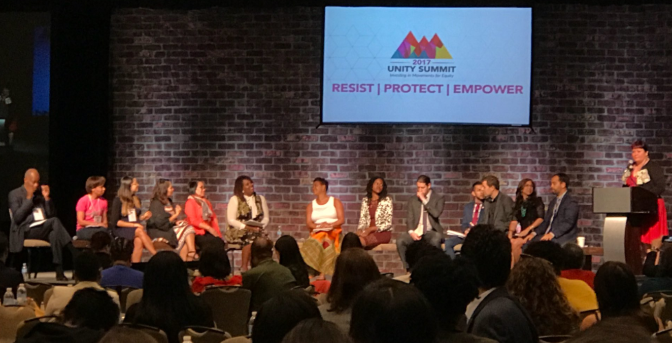 A panel at the unity summit.