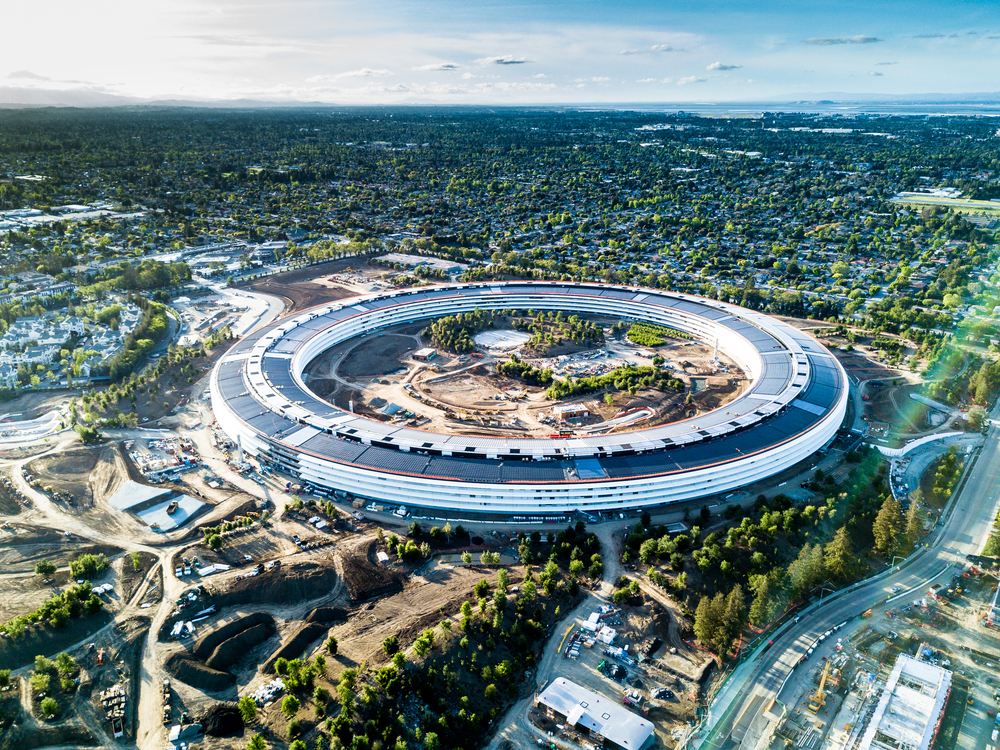 Apple's new headquarters. photo:  Uladzik Kryhin/shutterstock
