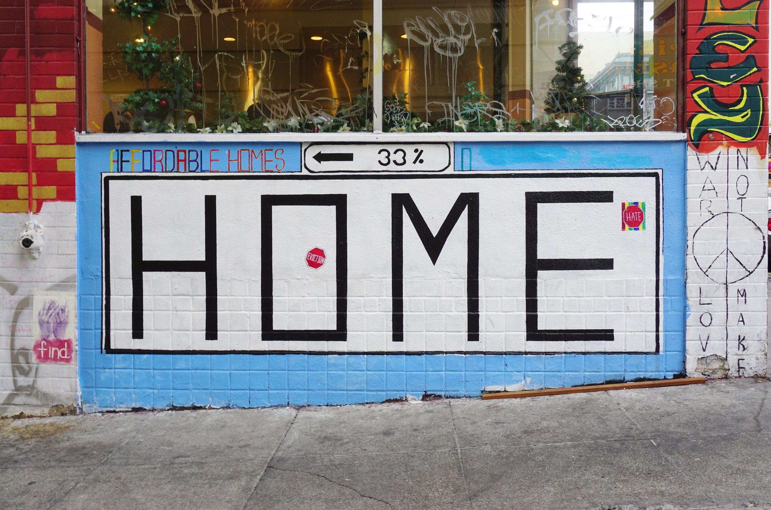 A mural in San Francisco's Tenderloin district. photo:EQRoy/shutterstock