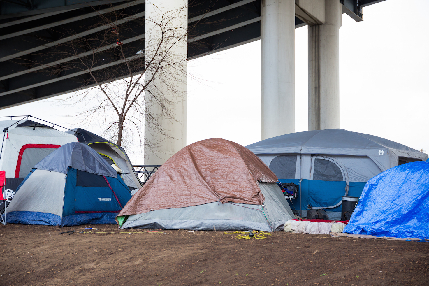 A homeless encampment in portland. photo:  Joshua Rainey Photography/shutterstock
