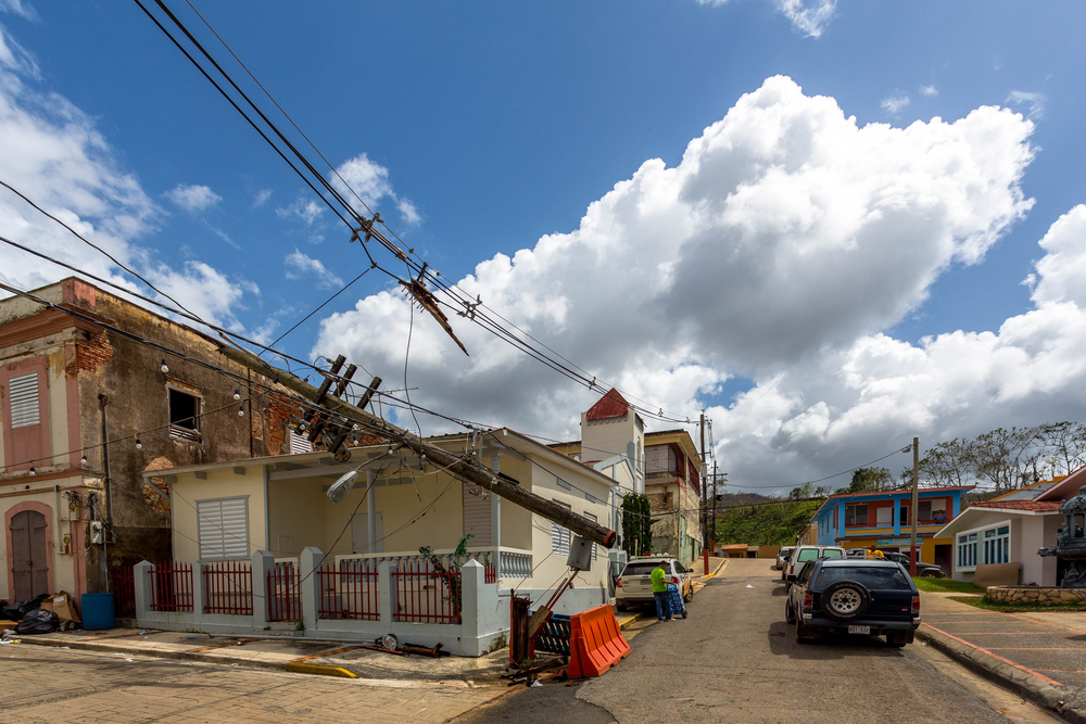 downed power lines in puerto Rico. photo: RaiPhoto /shutterstock