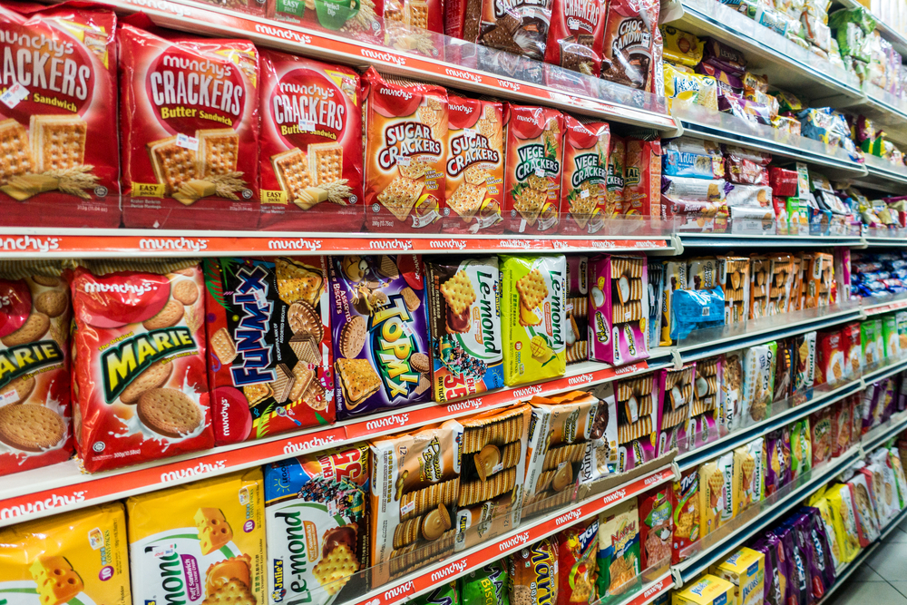 a supermarket shelf in malaysia. photo: shutterstock/ Muhd Imran Ismail