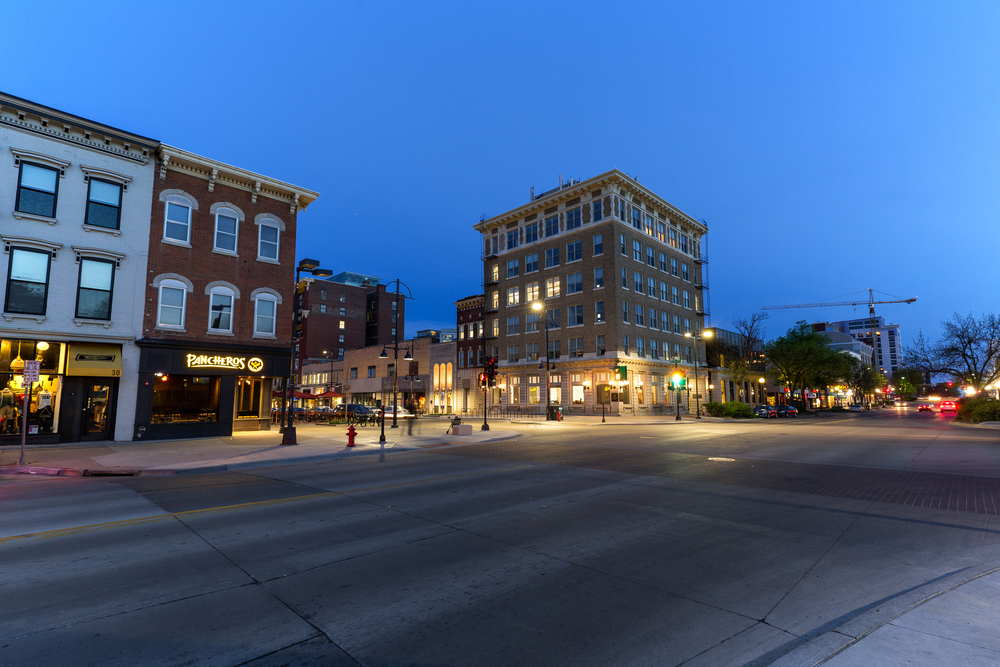 downtown iowa city. photo:David Harmantas/shutterstock