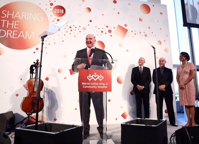 Steve Ballmer of the Ballmer Group. photo courtesy of MLKCH