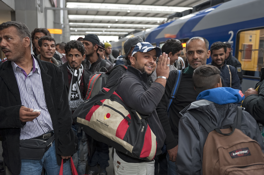 Refugees arriving in Germany. Photo:Jazzmany/shutterstock