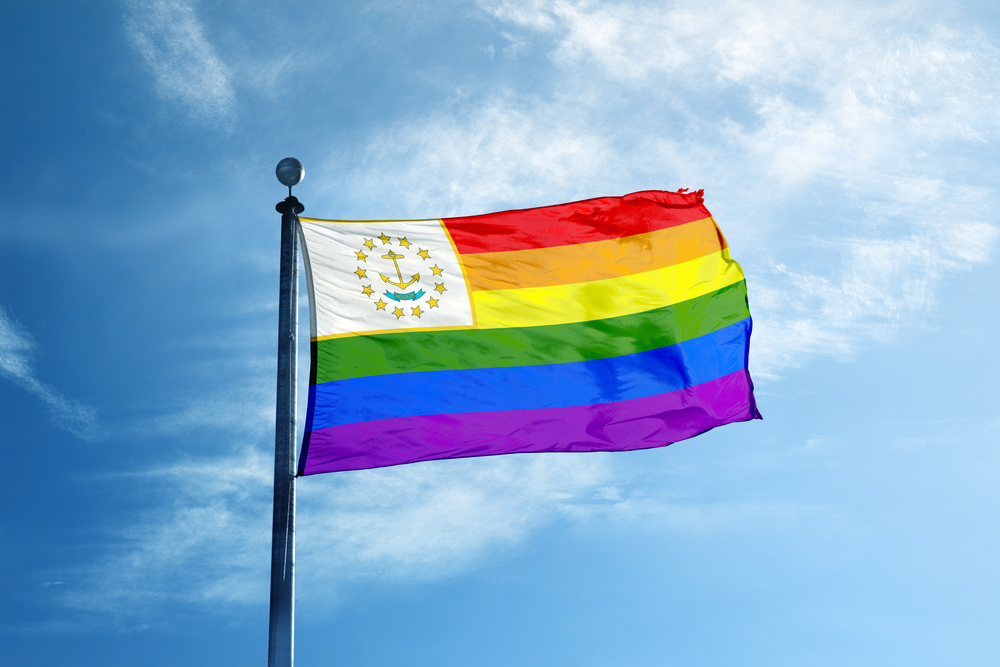 Rhode Island Rainbow flag. photo:Creative Photo Corner/shutterstock