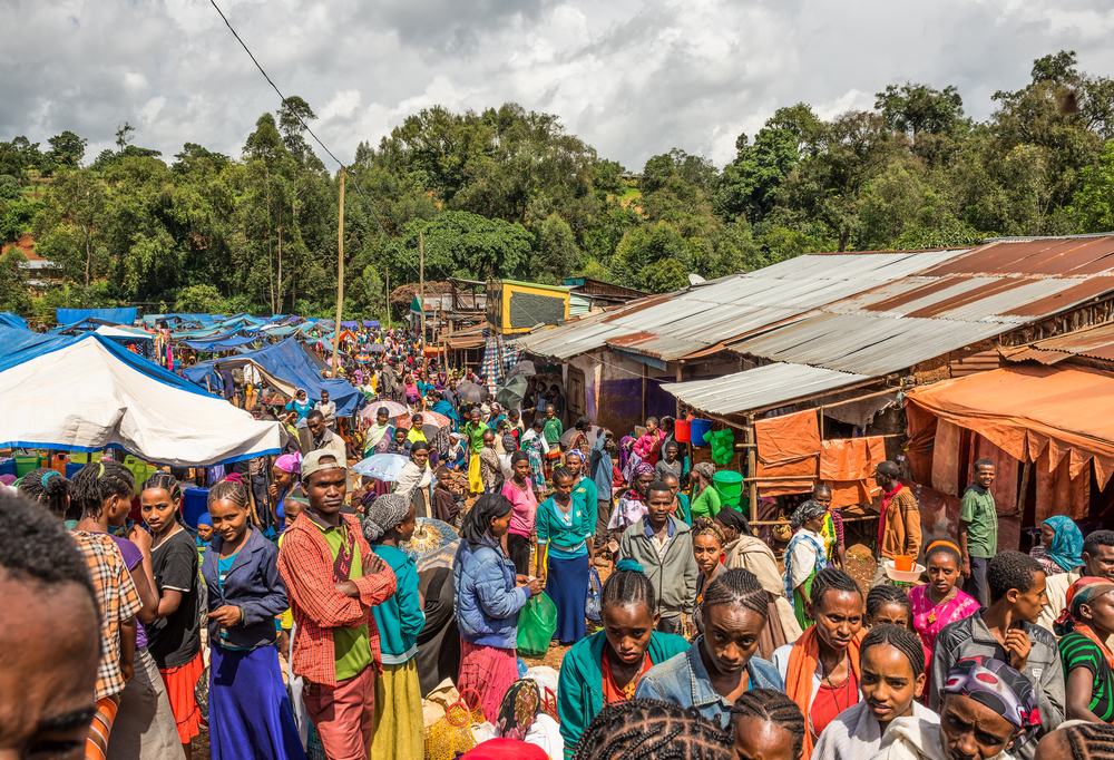 A market in Ethiopia. photo:  Nick Fox/shutterstock