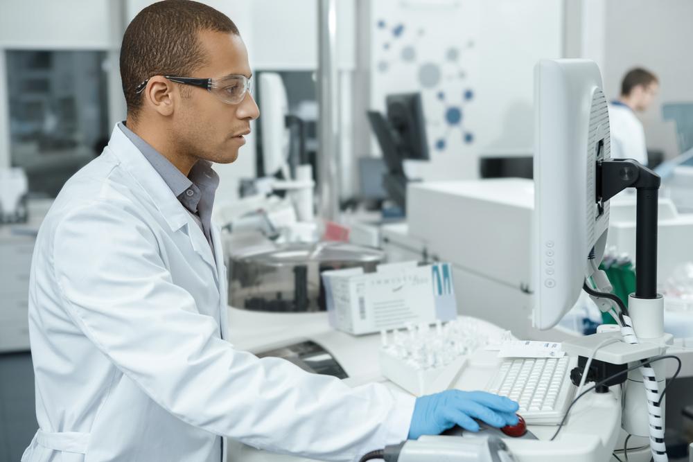 A lab technician. photo:Nestor Rizhniak/shutterstock