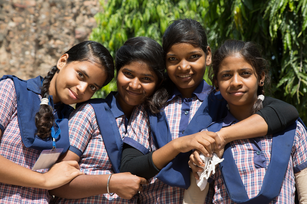 School girls in india. photo: Morenovel/shutterstock