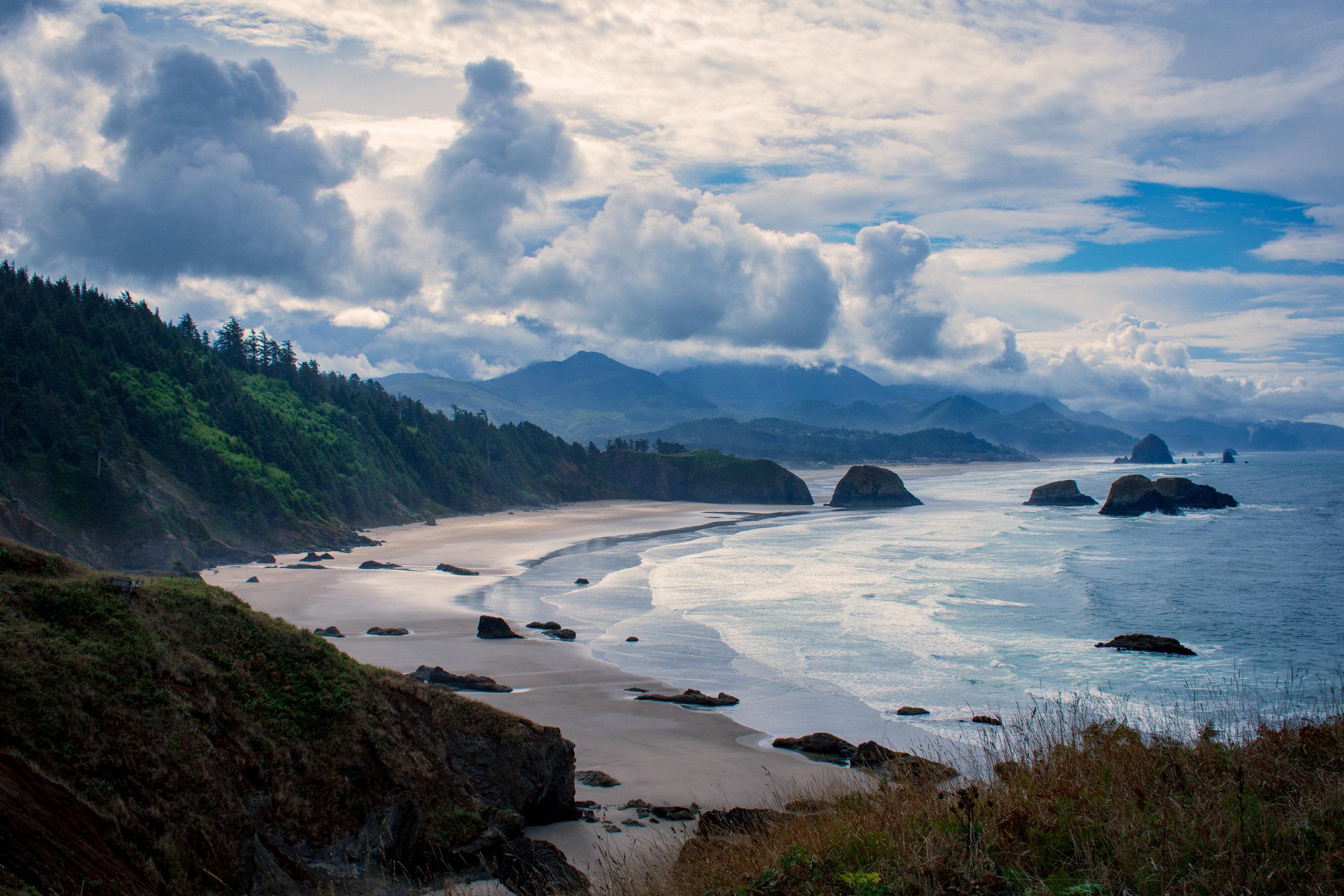 Oregon's Pacific coast.