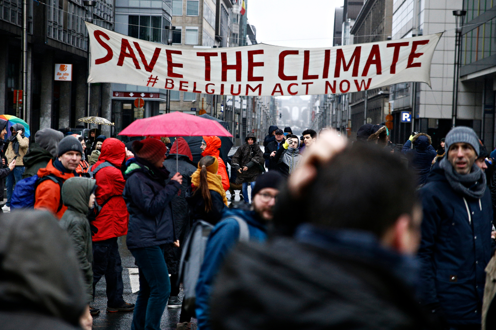 A protest march in Brussels last month. Alexandros Michailidis/shutterstock