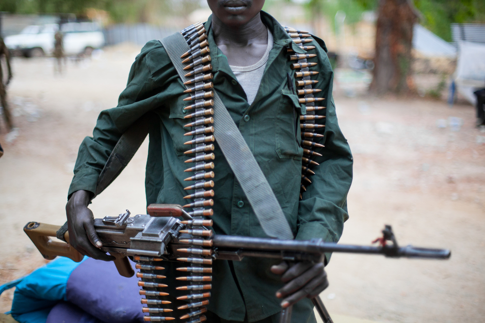 A soldier in South Sudan. punghI/shutterstock