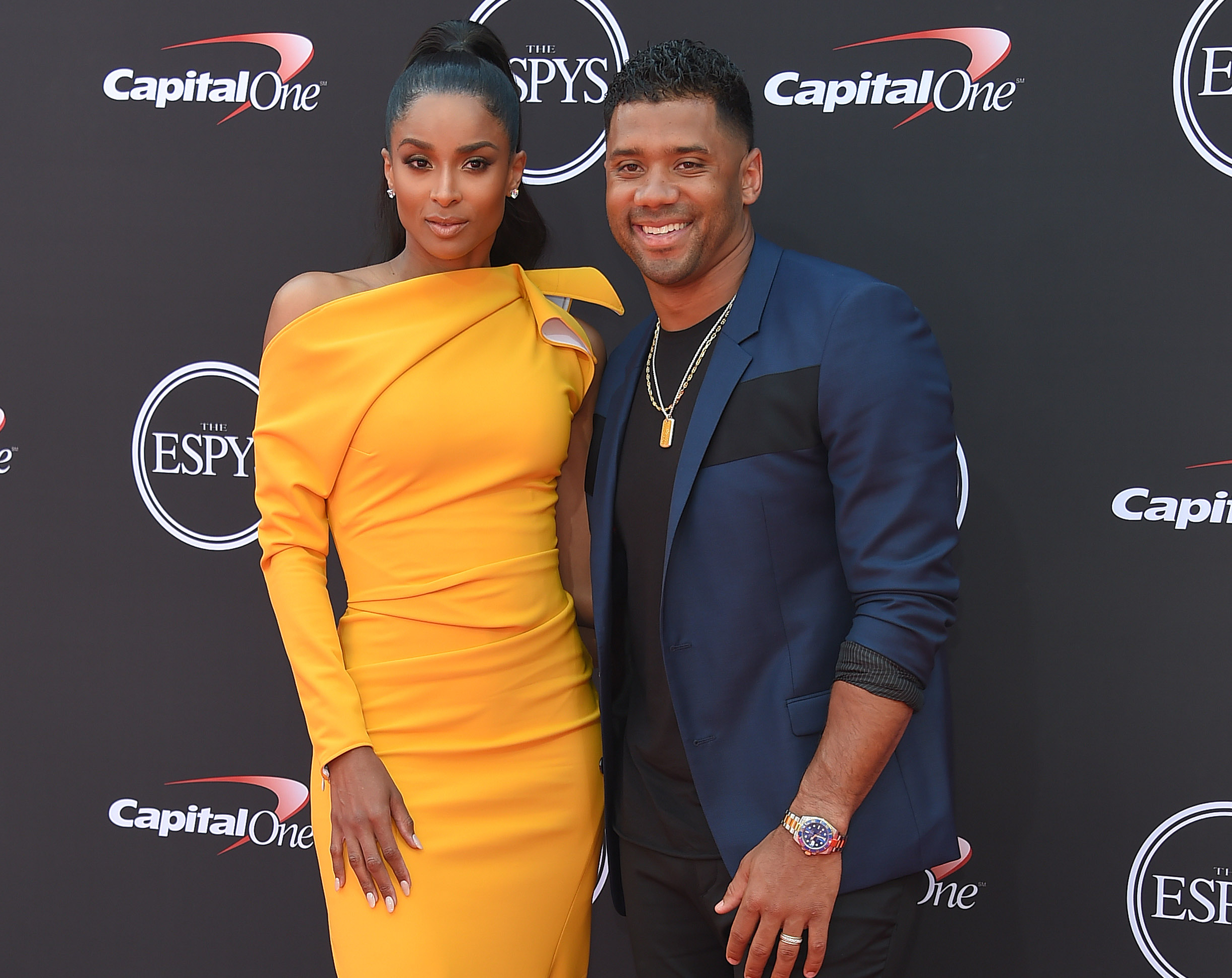 Russell Wilson and Ciara last year. DFree/shutterstock