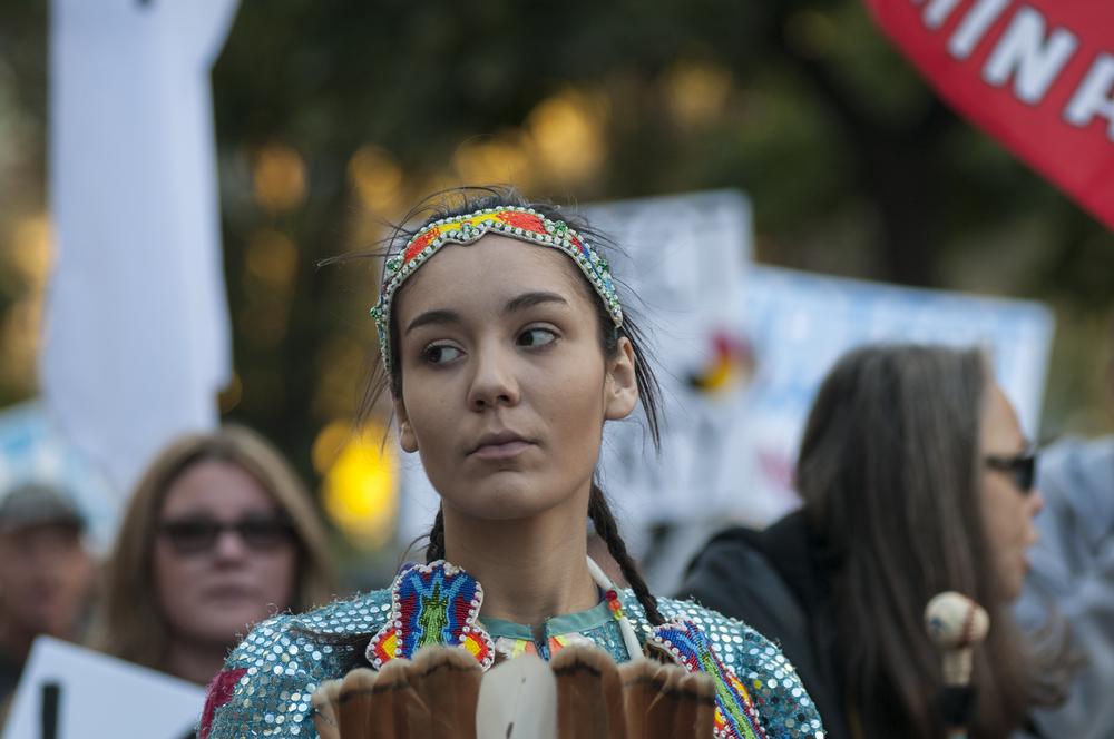 A protest against the Dakota Access Pipeline. arindambanerjee/shutterstock