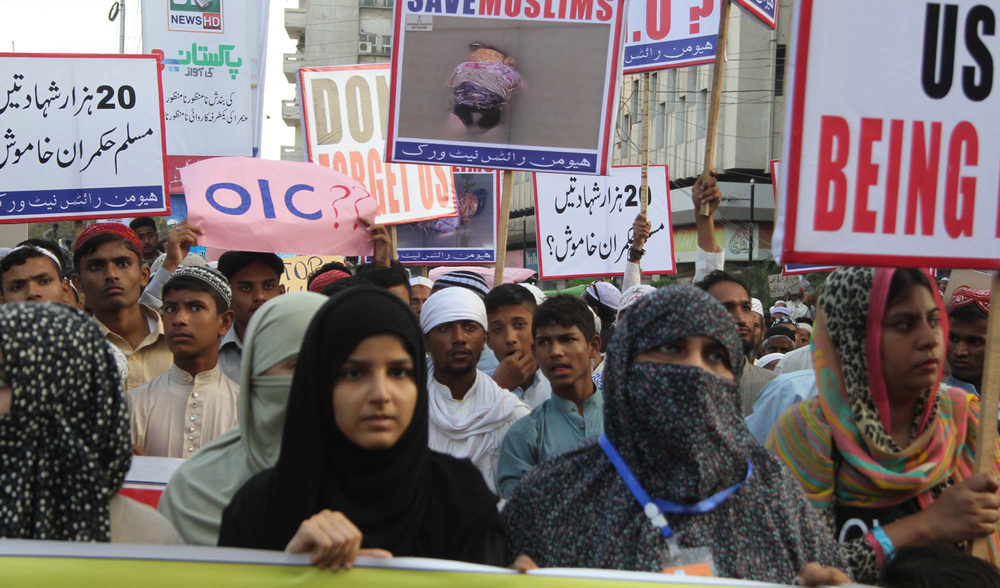 A human rights protest in Karachi, Pakistan. Asianet-Pakistan/shutterstock