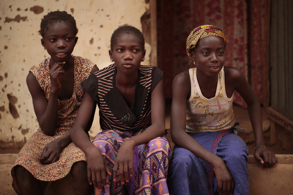 Teenage girls in gambia. Agarianna76/shutterstock