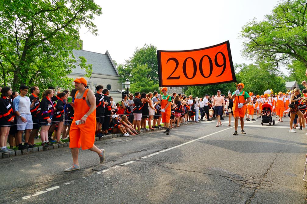 a parade at a princeton reunion. EQRoy/shutterstock