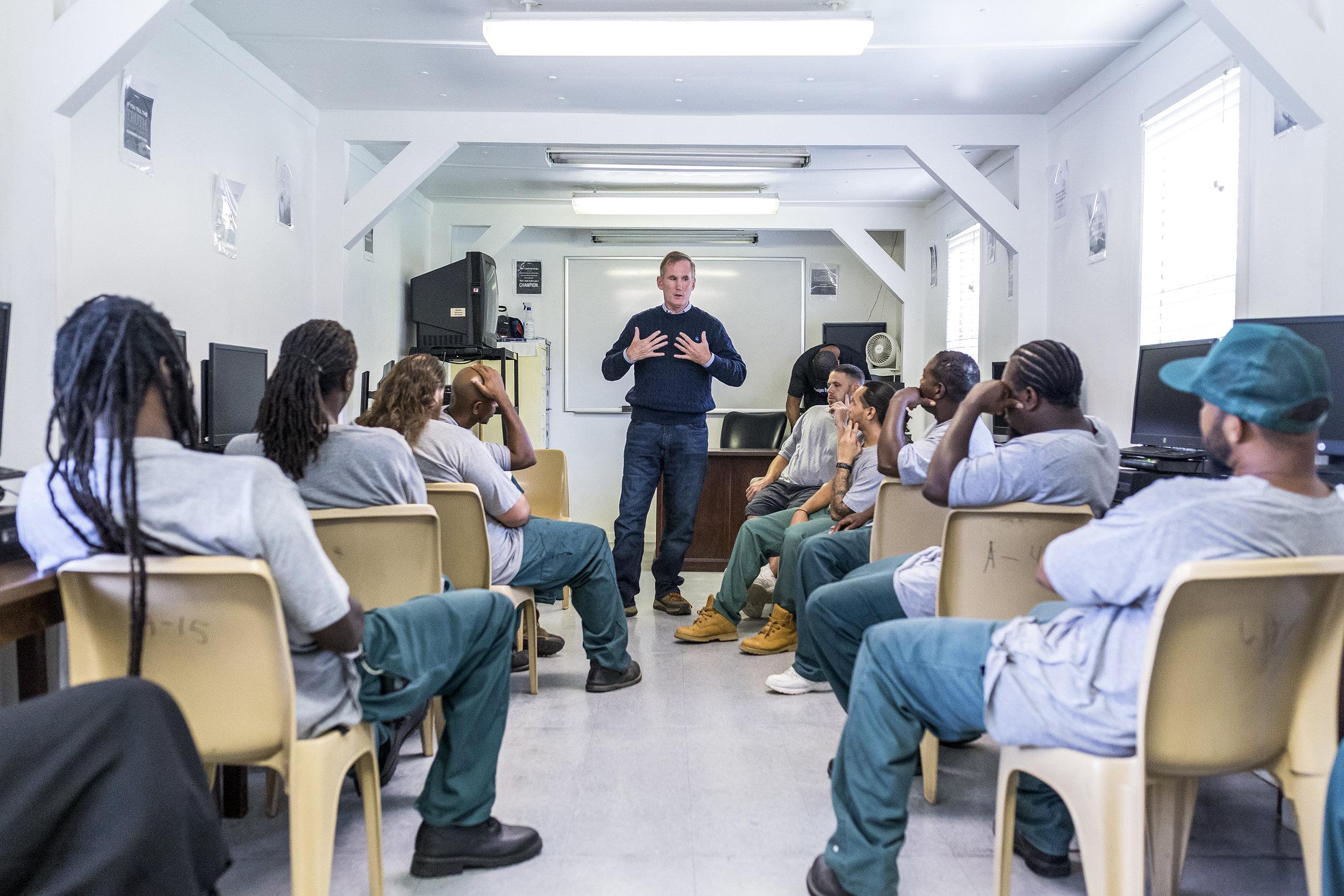 Brian Hamilton visits a prison