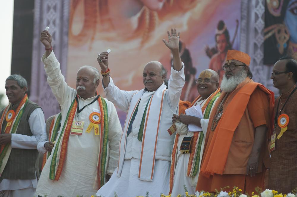 Hindu Nationalists rally in India. arindambanerjee/shutterstock
