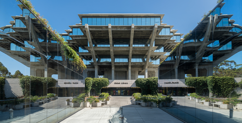 The Geisel library at UCSD. Nagel Photography/shutterstock