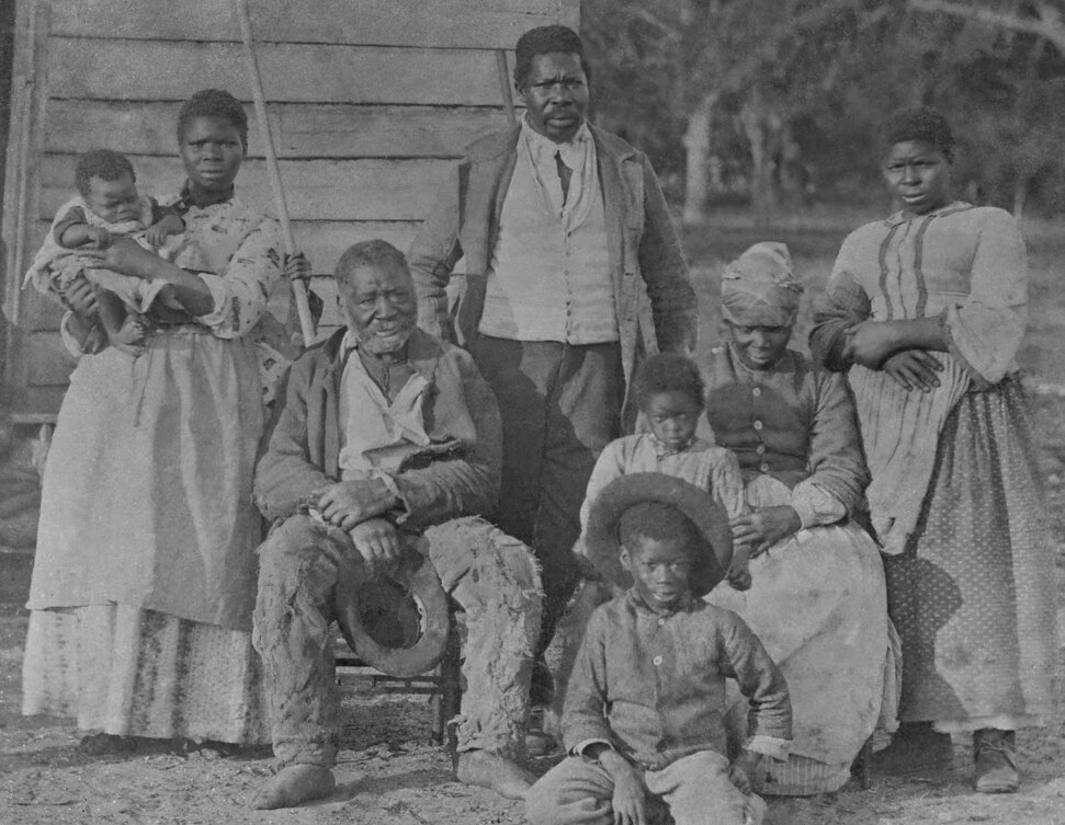 A slave family on a plantation in Beaufort, South Carolina. Everett Historical/shutterstock