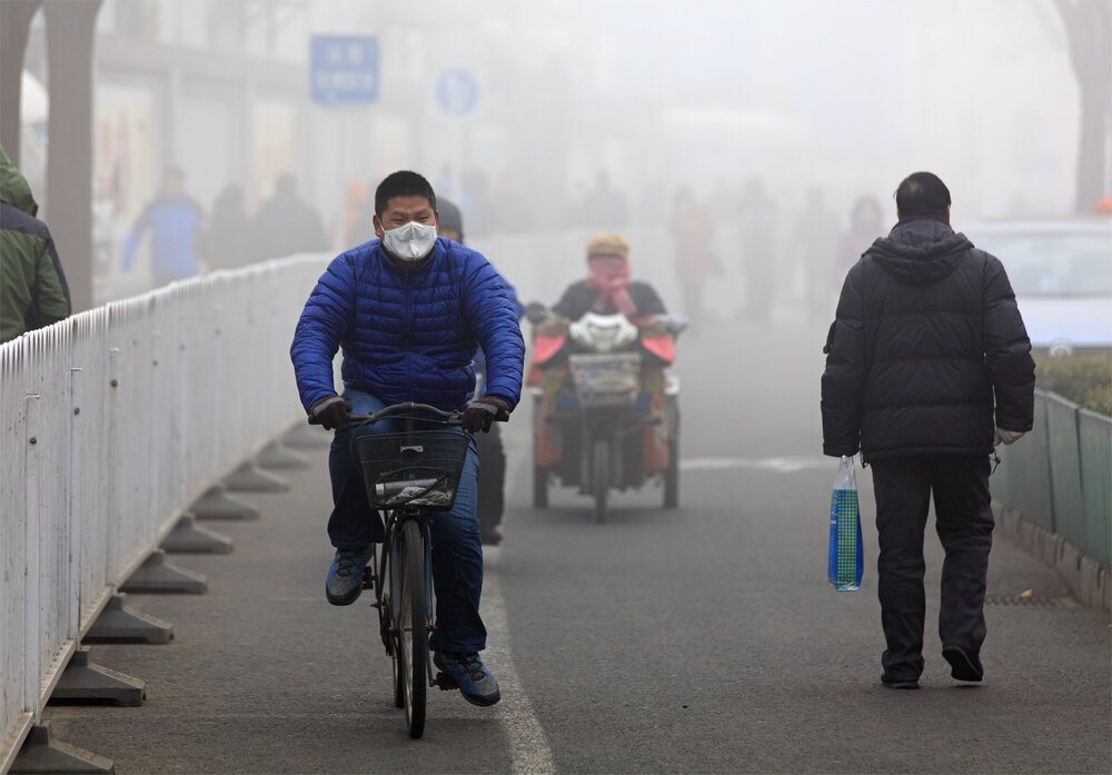 A bicyclist in Beijing. Photo: testing/shutterstock