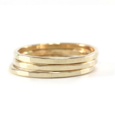 Stacking Rings Class brass $45/ea silver $55/ea