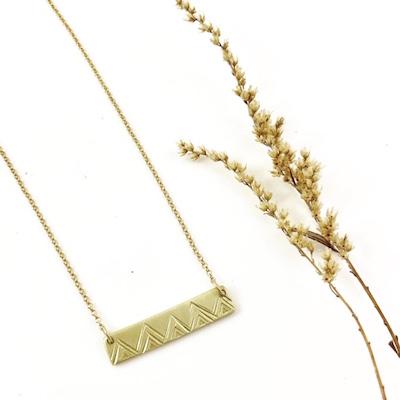 Bar Necklace Brass $30 Sterling $50