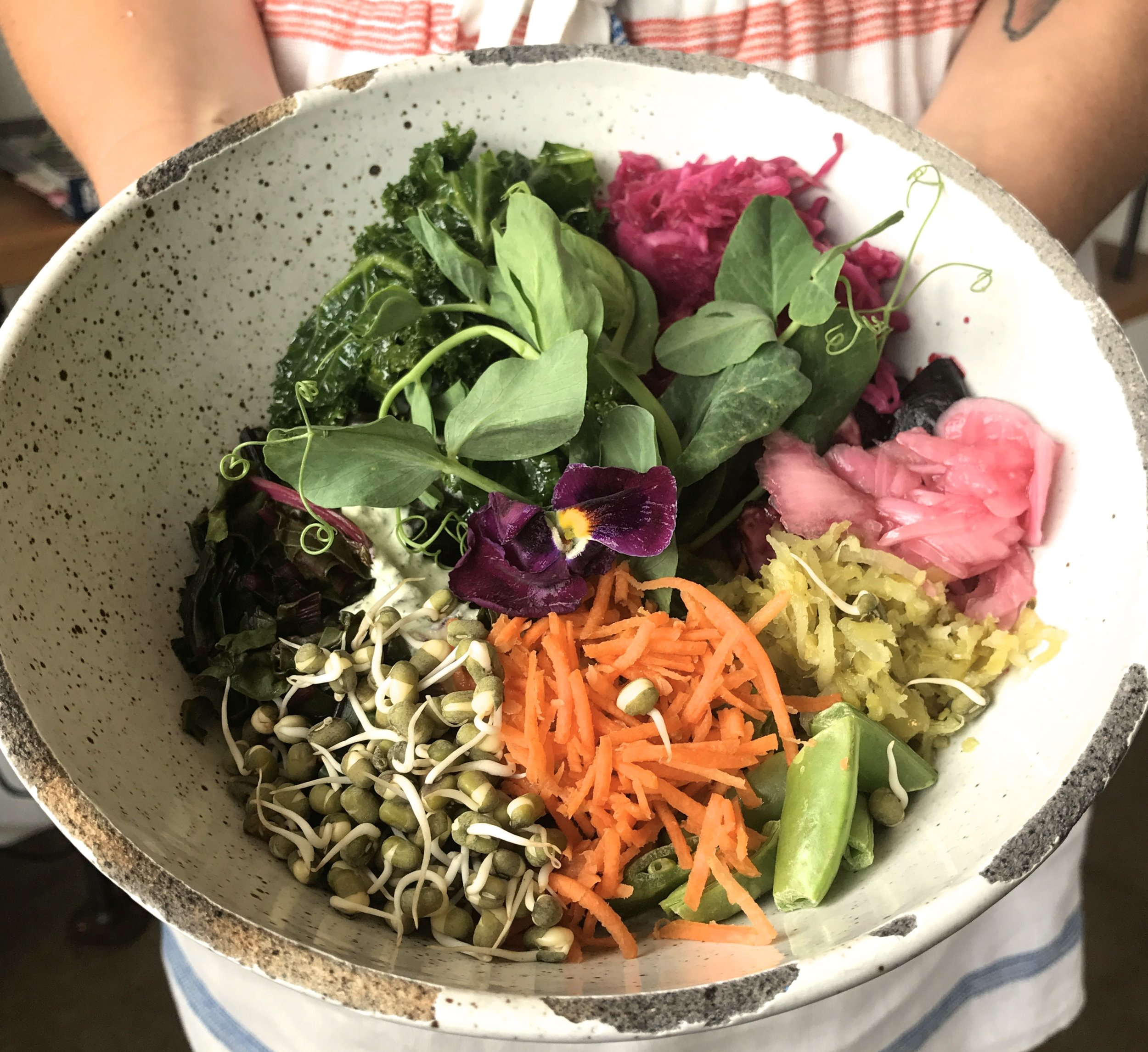 This beautiful and healthful bowl of food is from  Palette food and juice . hard not to appreciate and slow down when eating a meal like this!