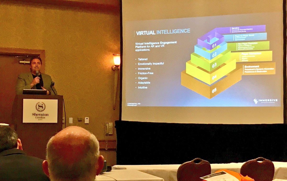 November 12th, 2016 - Ciaran Foley, CEO @ImmersiveEnt discusses Virtual Intelligence Engagement Platform for AR & VR, @EvoNexus, @TiESoCal @ciaranfoley @UCIAA