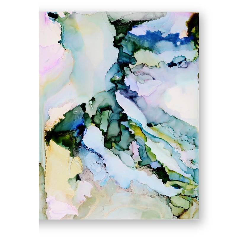 green purple amethyst gemstone abstract Crystal painting - original painting jenna webb art.jpg