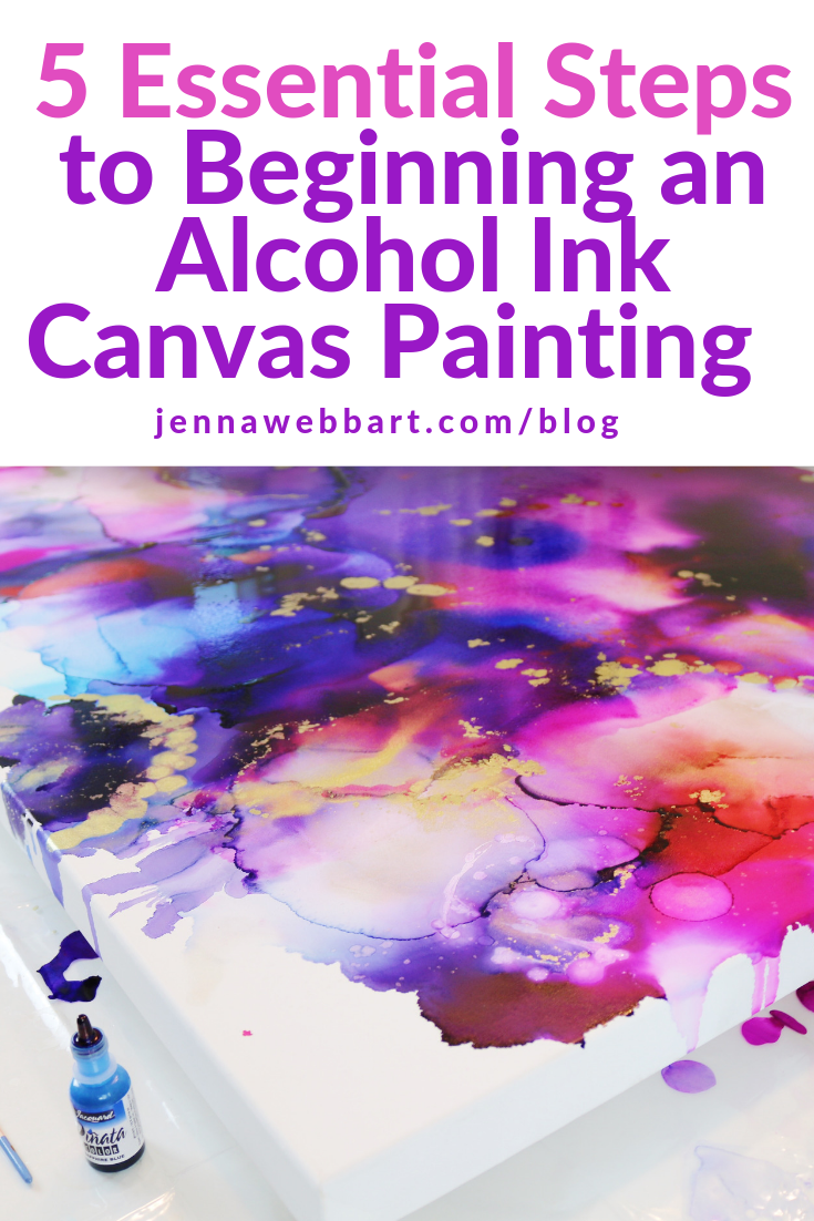 Alcohol+Ink+On+Canvas+With+Jenna+Webb+Art