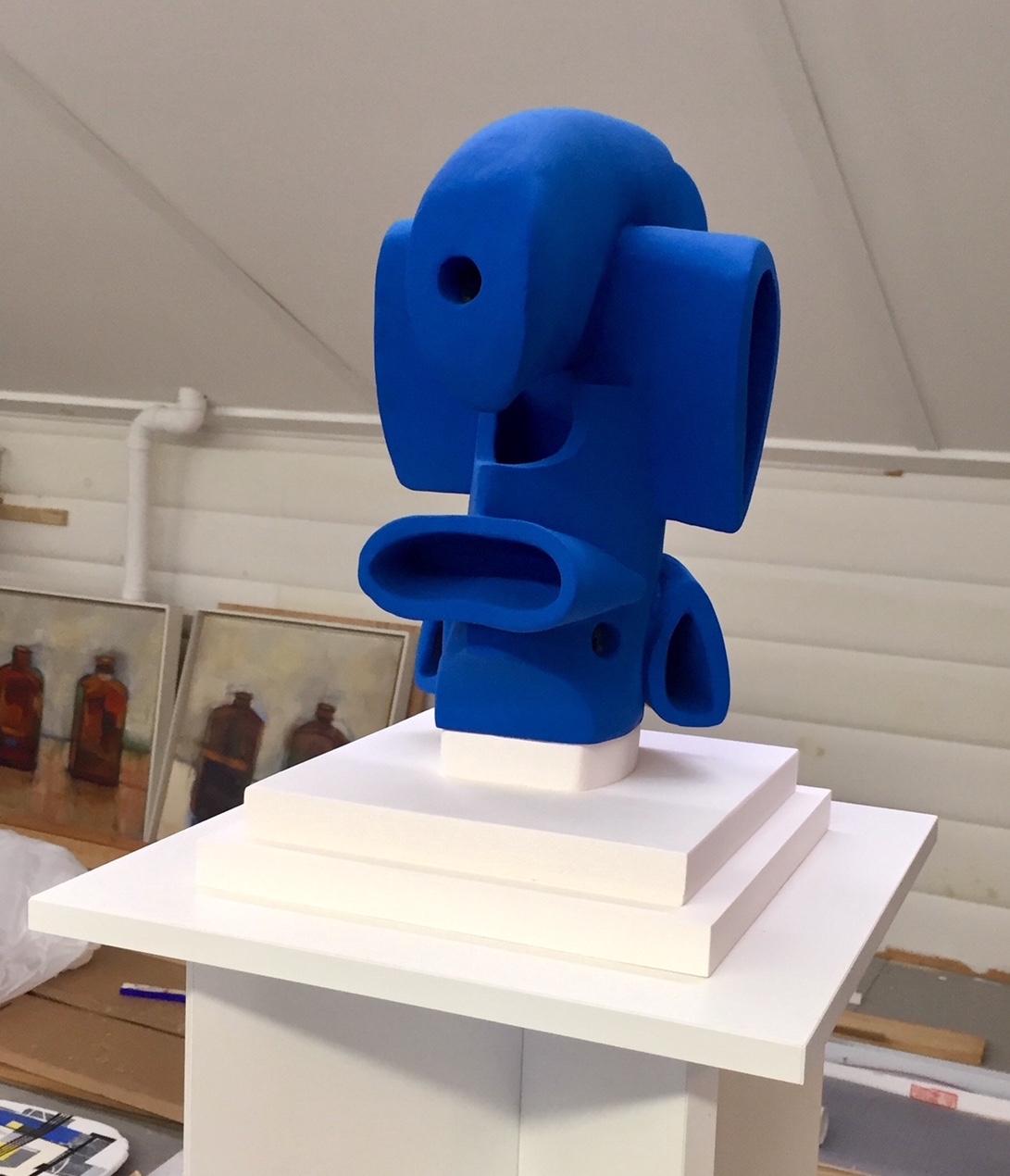 """Slinky Blue Jr."" (mounted on wooden base)"