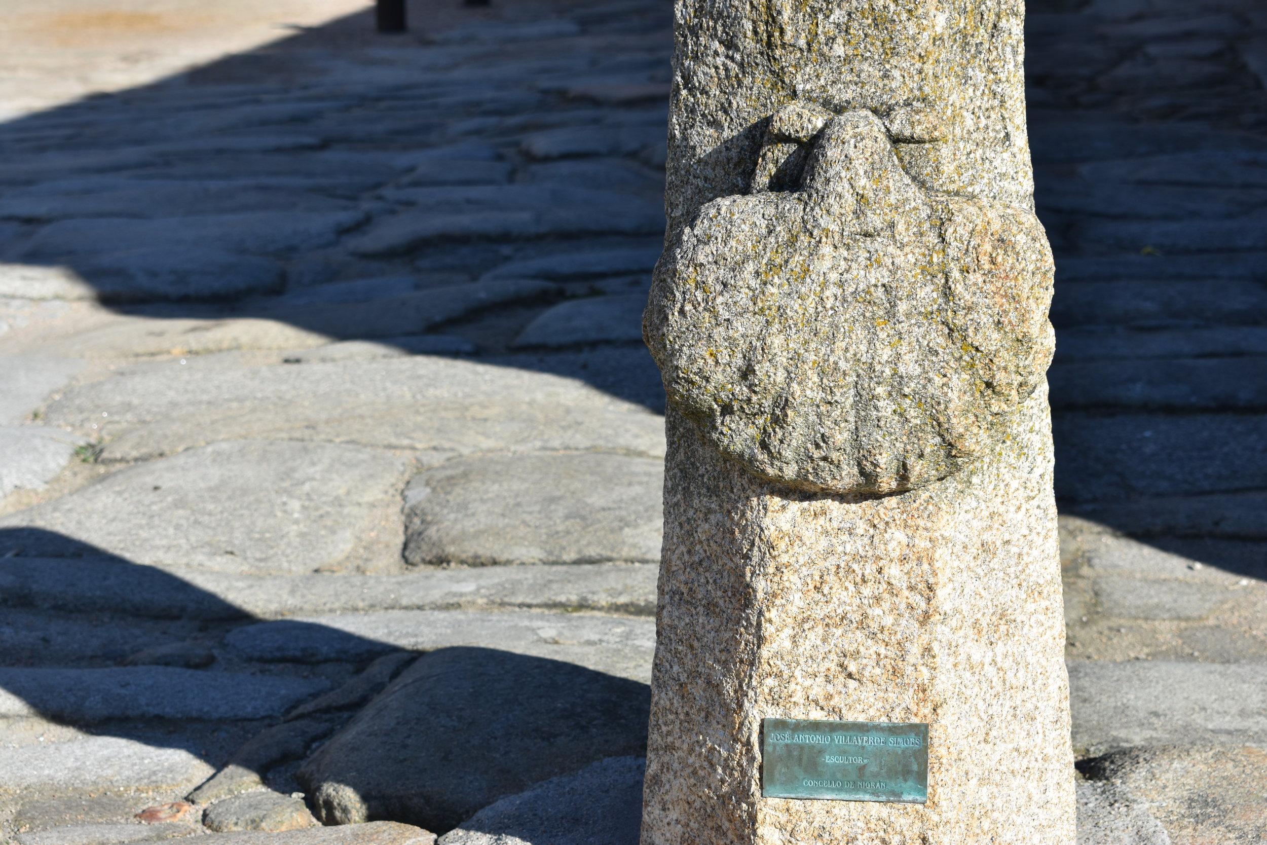Sabarís lies along the Portuguese Way of the Camino de Santiago.