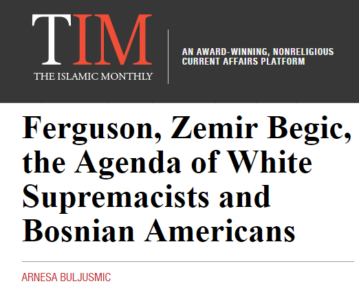 """""""How White Supremacist media pundits used the Begic murder to create a black on white racist agenda, and how the Bosnian American community played in to it..."""""""