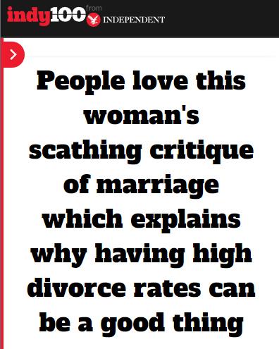 """Is a high divorce rate indicative of a failing society? Bosnian Muslim author Arnesa Buljusmic-Kustura took to  Twitter   last week to offer an alternative view..."""