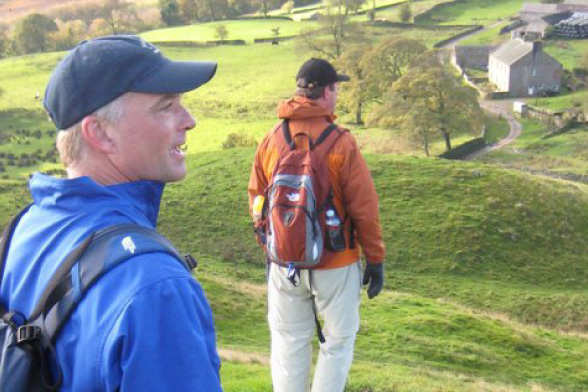 The descent to Hadrian's Wall on the National Trail