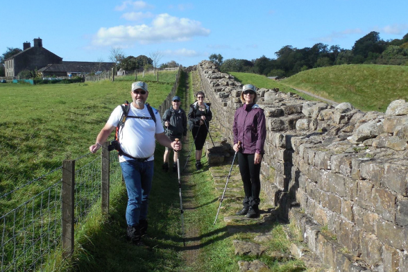 Hiking along Hadrian's Wall Path