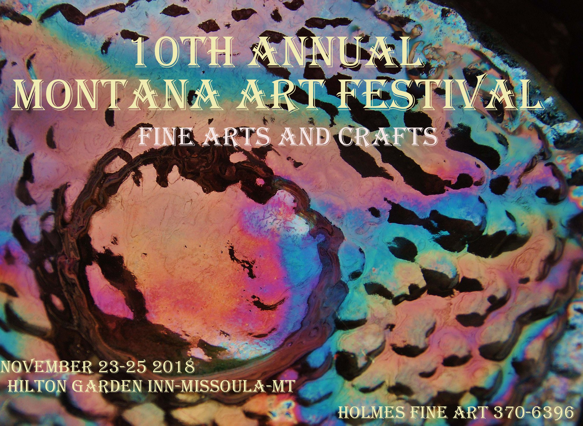 Just My Type will be at the Montana Art Festival. Hope to see you there! !