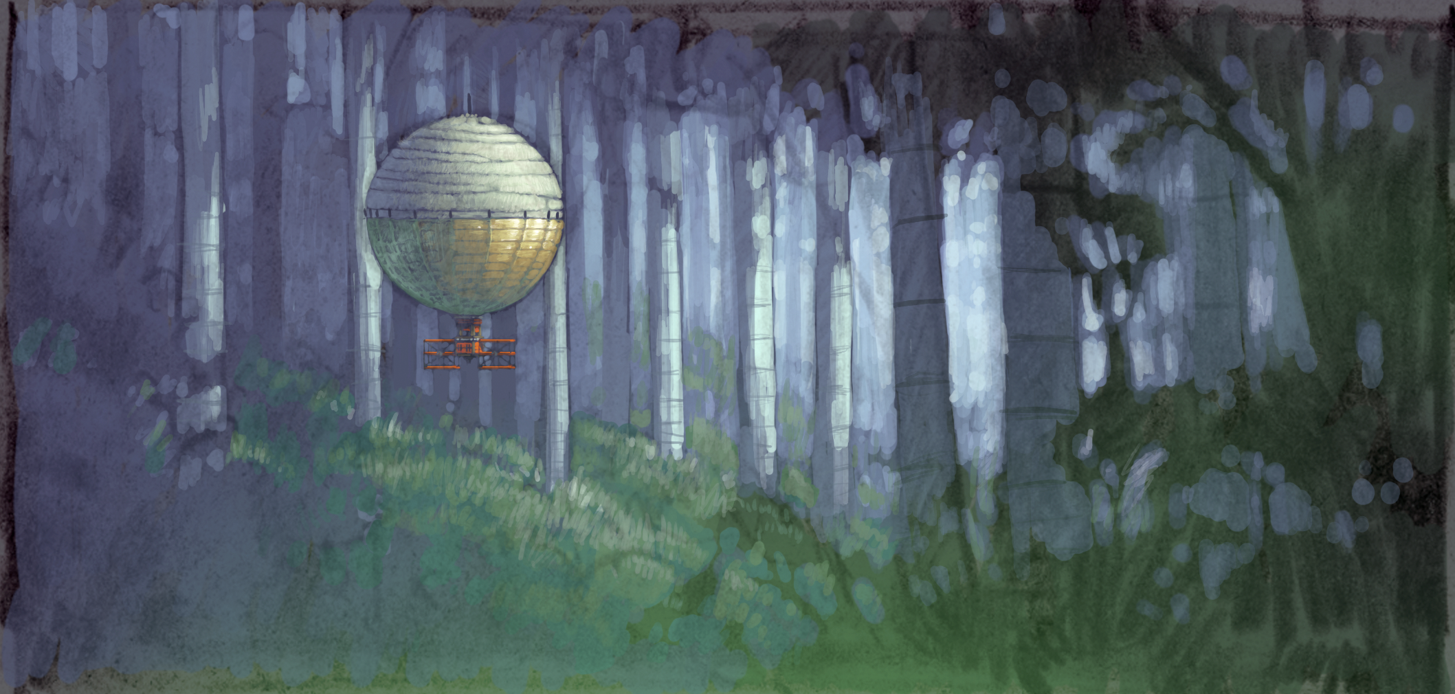 Rinsera Rin - Forest - Concept Painting