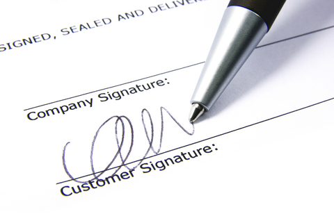 Step Four - Contract Signing - When we have gone through the quotation together which is very comprehensive, if you are happy to proceed, we will issue a contract for you to sign off on.