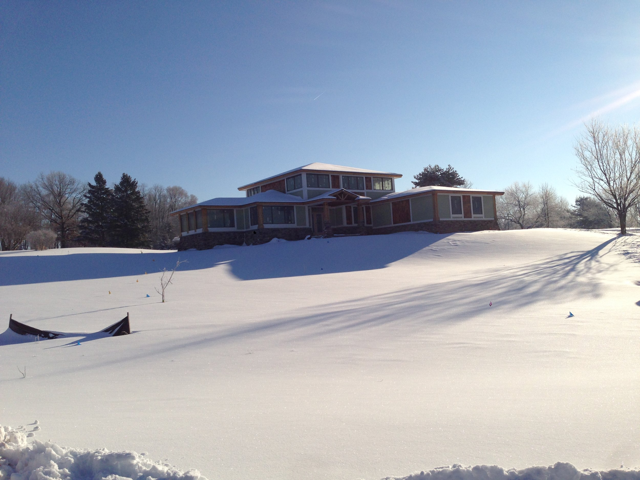 Snowy Landscape Home
