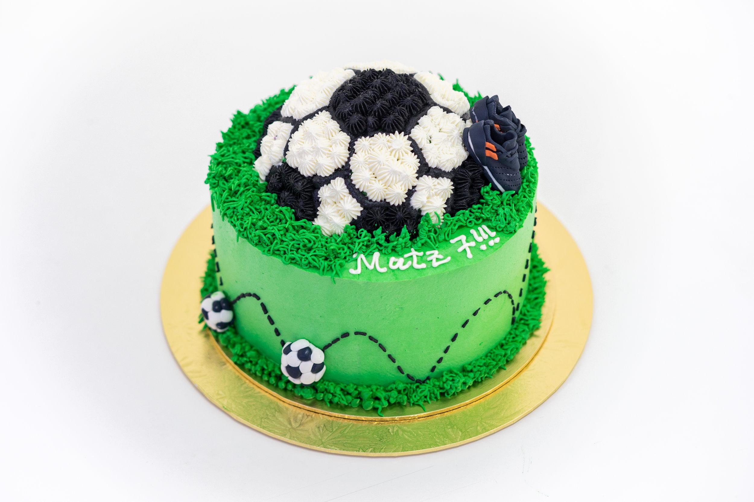 Buttercream Soccer Cake    Homemade by Joannalyn