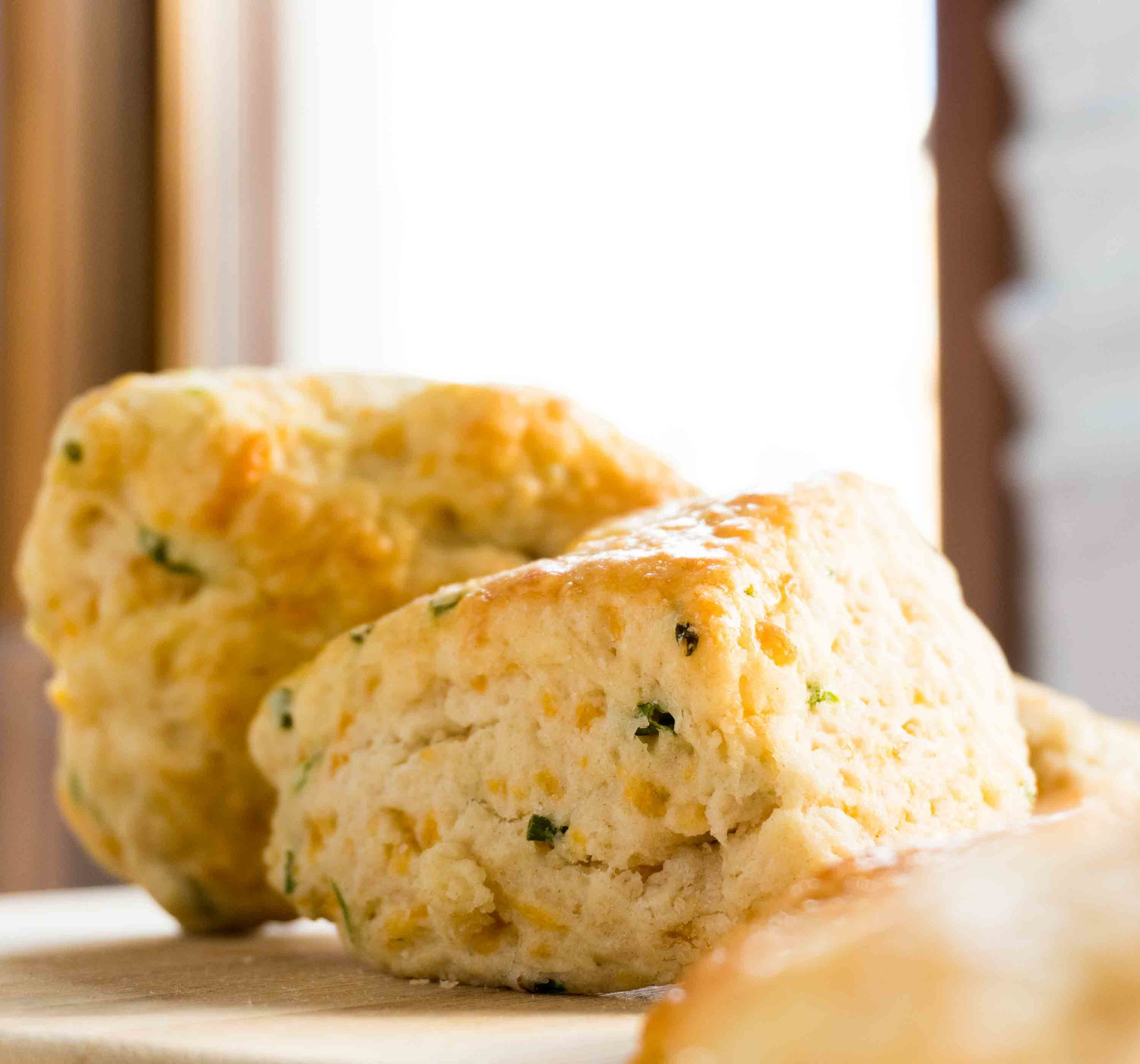 Cheddar-Chive Scones -