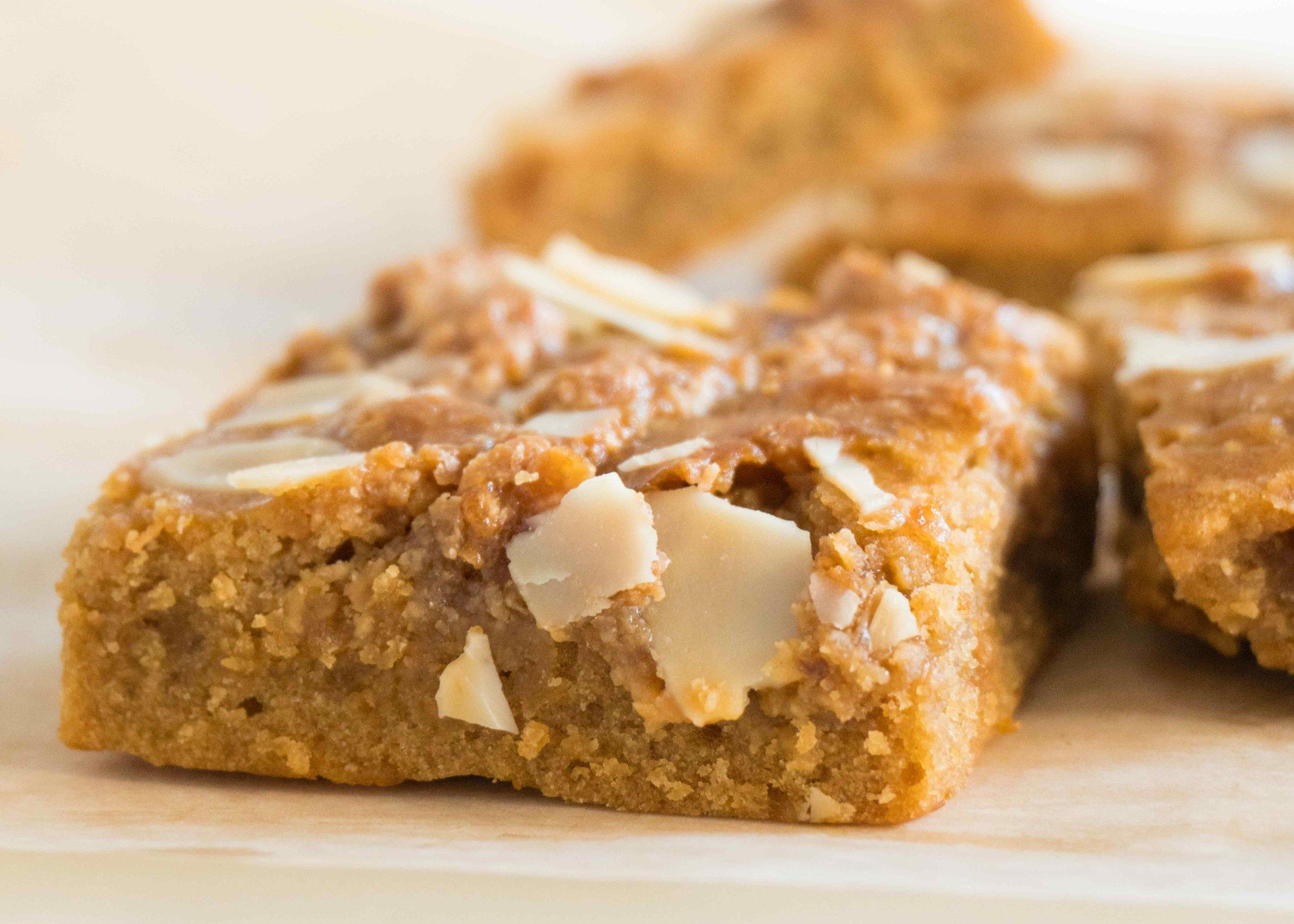 - Maple Almond Crunch Blondie