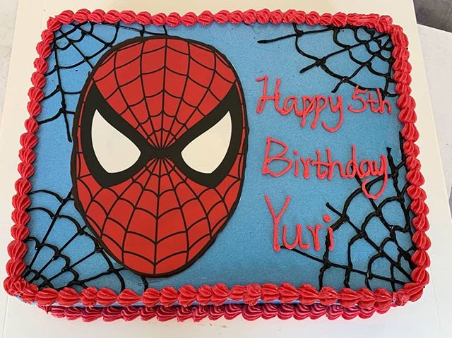 Customized Spiderman cake for Yuri! Make any celebration magical with Homebakee! 😊  Looking for a highly customizable cake? Need a personalized themed dessert table with customized baked goods? From cakes to cupcakes.. we do it all! 🎂🍩🍪🍰🥧 Call the Cakeman right now!! • Call or whatsapp The Cakeman right now @ +65 9037 2990 • Choose from our catalogue of cakes on our website. Link in bio ☝🏻 • #homebakee #thecakeman