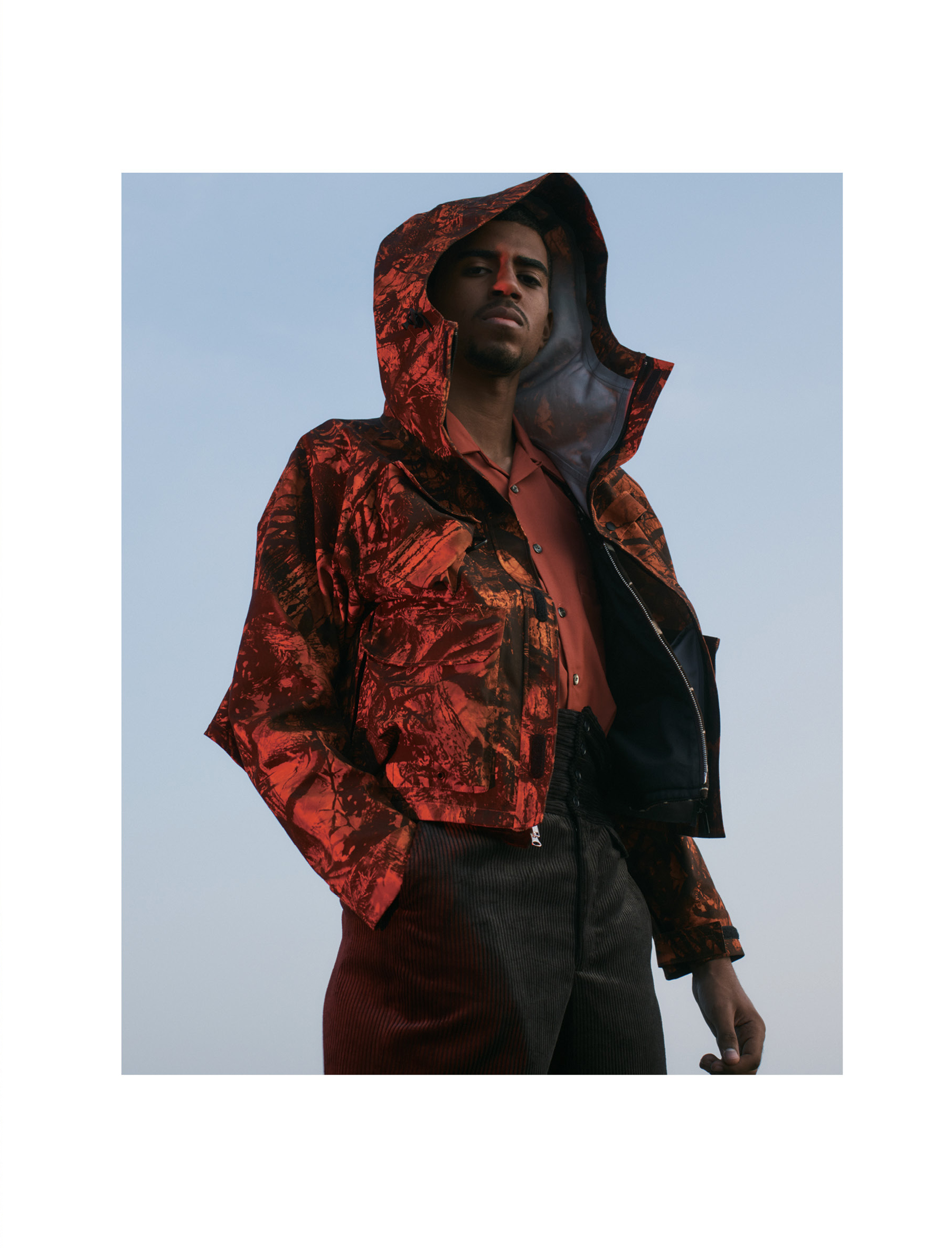 Both: Jacket - South2 West8, Shirt - Needles, Pants - _AïE, Shoes - Engineered Garments X Dr Martins