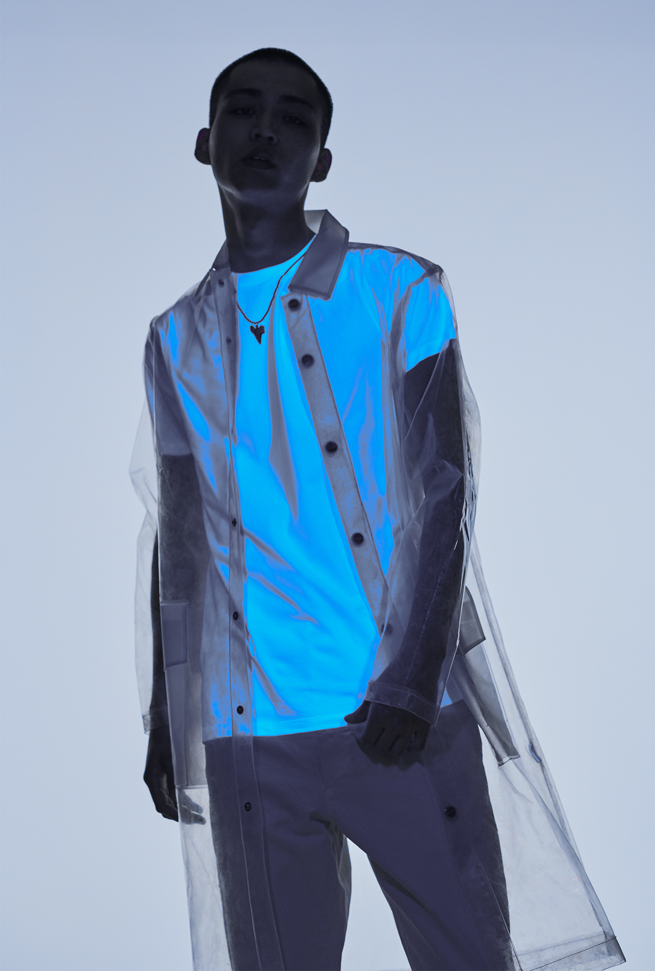 1. Jacket - Stylist's Own Trousers - Woolrich Sunglasses - Ace & Tate x CMMN SWDN 2. Coat - Rains T-shirt - Neil Barrett (Mr Porter) Trousers - Margaret Howell