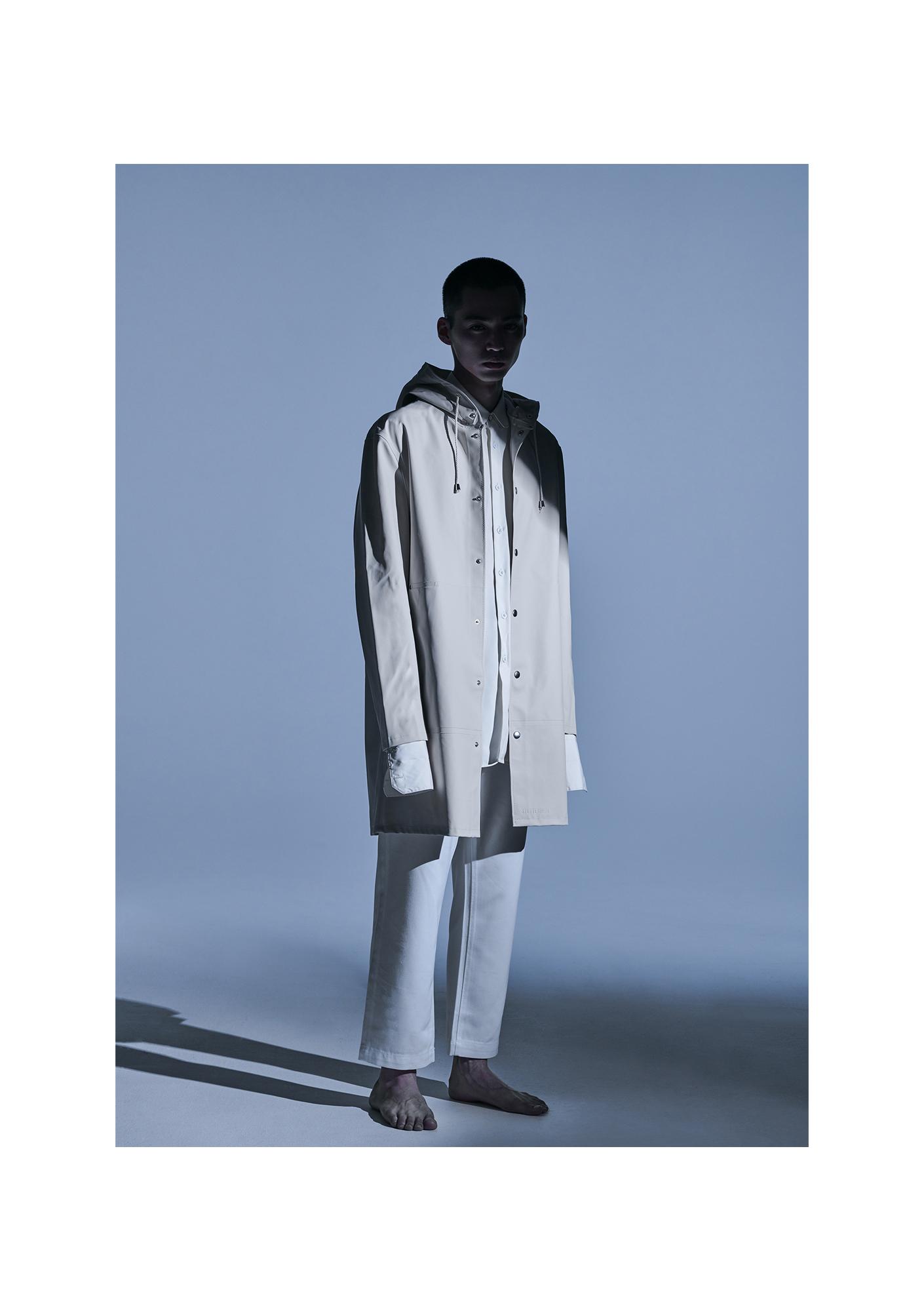 1. Jacket - C.P. Company Hat - Stone Island Trousers - Margaret Howell 2. Coat - Stutterheim Shirt - Louis Vuitton Trousers - Stylist's Own