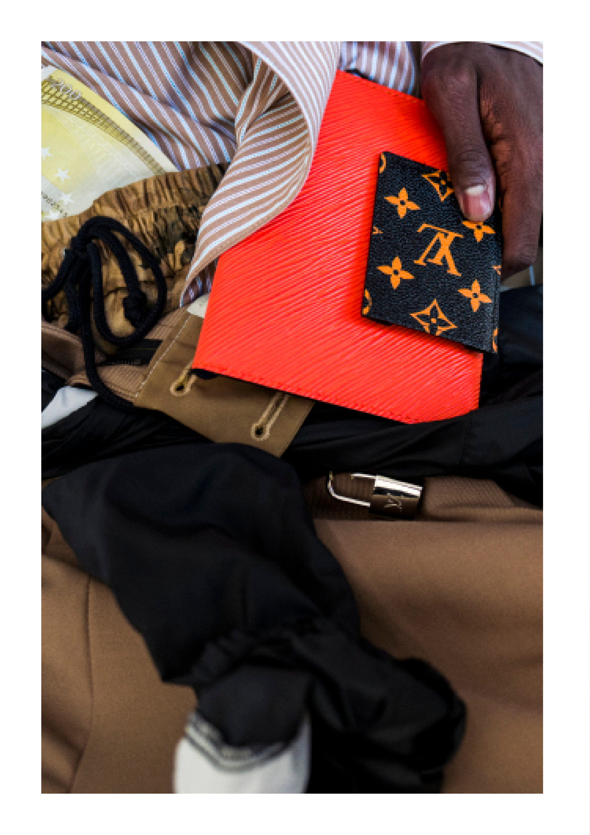 Shirt & Pants - Necessity Sense, Headwear - Prada, Wallet - Louis Vuitton
